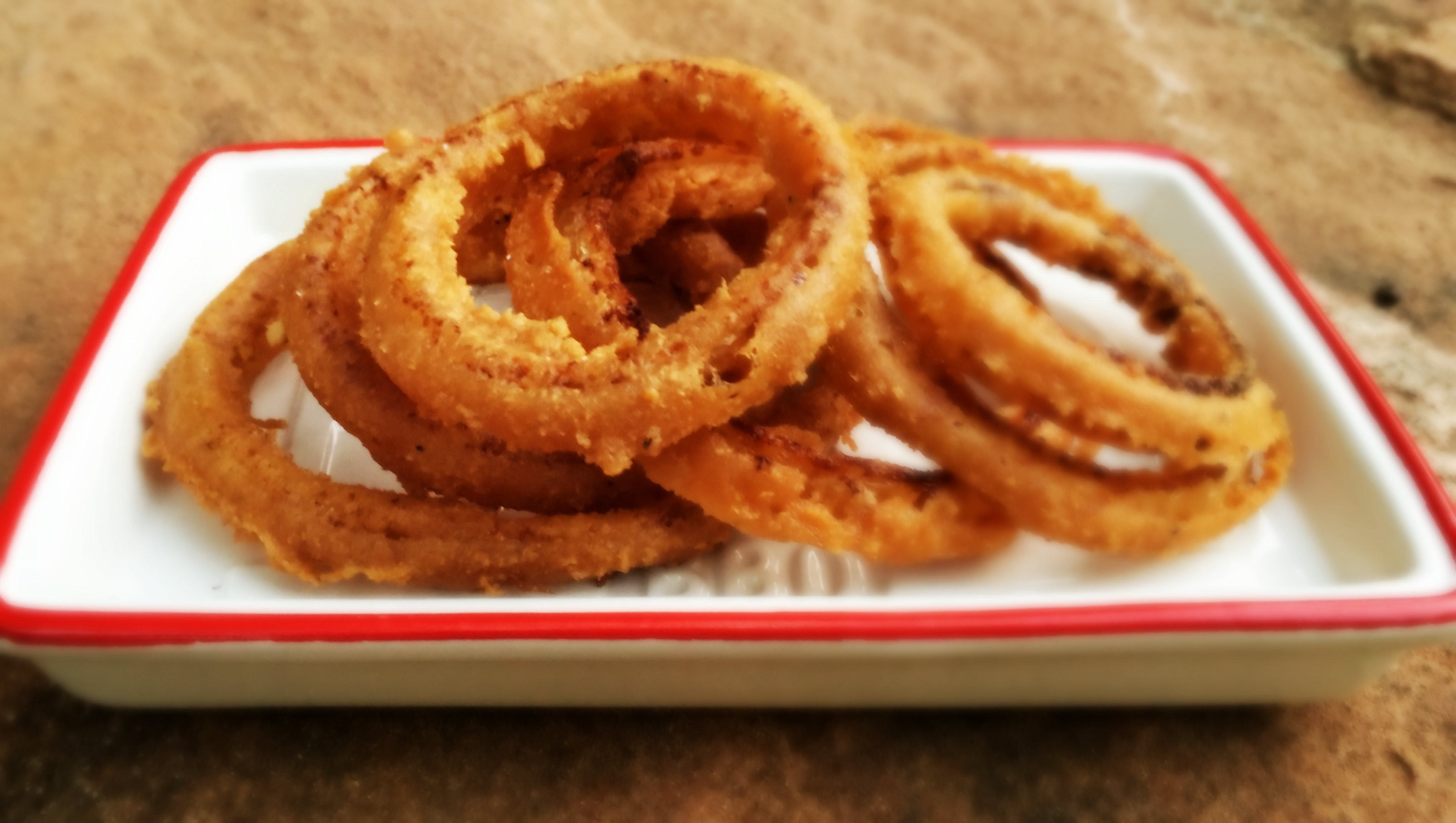 the battered rings graceful vegan baked beer kitchen onion